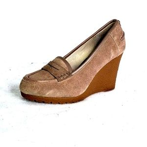 Michael Kors Rory Wedge Suede Loafers Size 7